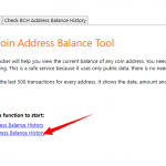 How to check bitcoin cash (BCH) address balance history?
