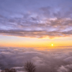 Sunset Above the Clouds Sky Timelapse Nature HD Scene Video Background Loop
