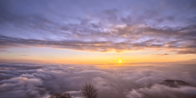 Sunset Above the Clouds Sky Timelapse Nature HD Scene Video