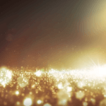 Footage Background Gold Bokeh and Lights