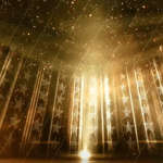 Stars Golden Stage Video Background [ High Quality Animated Background loop ]