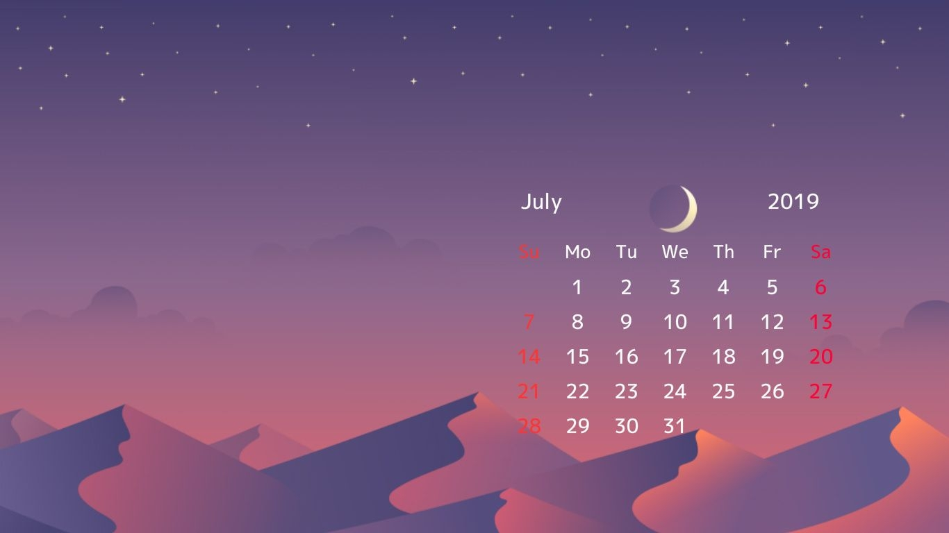 July 2019 Calendar HD Wallpapers   Background Images   Photos