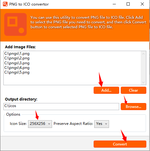 How to batch convert PNG, JPG, BMP and GIF files to ICO files? | YL