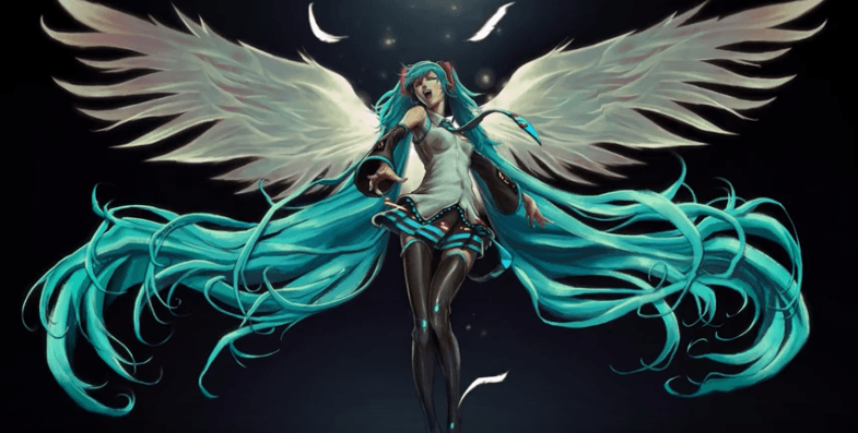 Hatsune Miku Goddess Angel Live Wallpaper | YL Computing