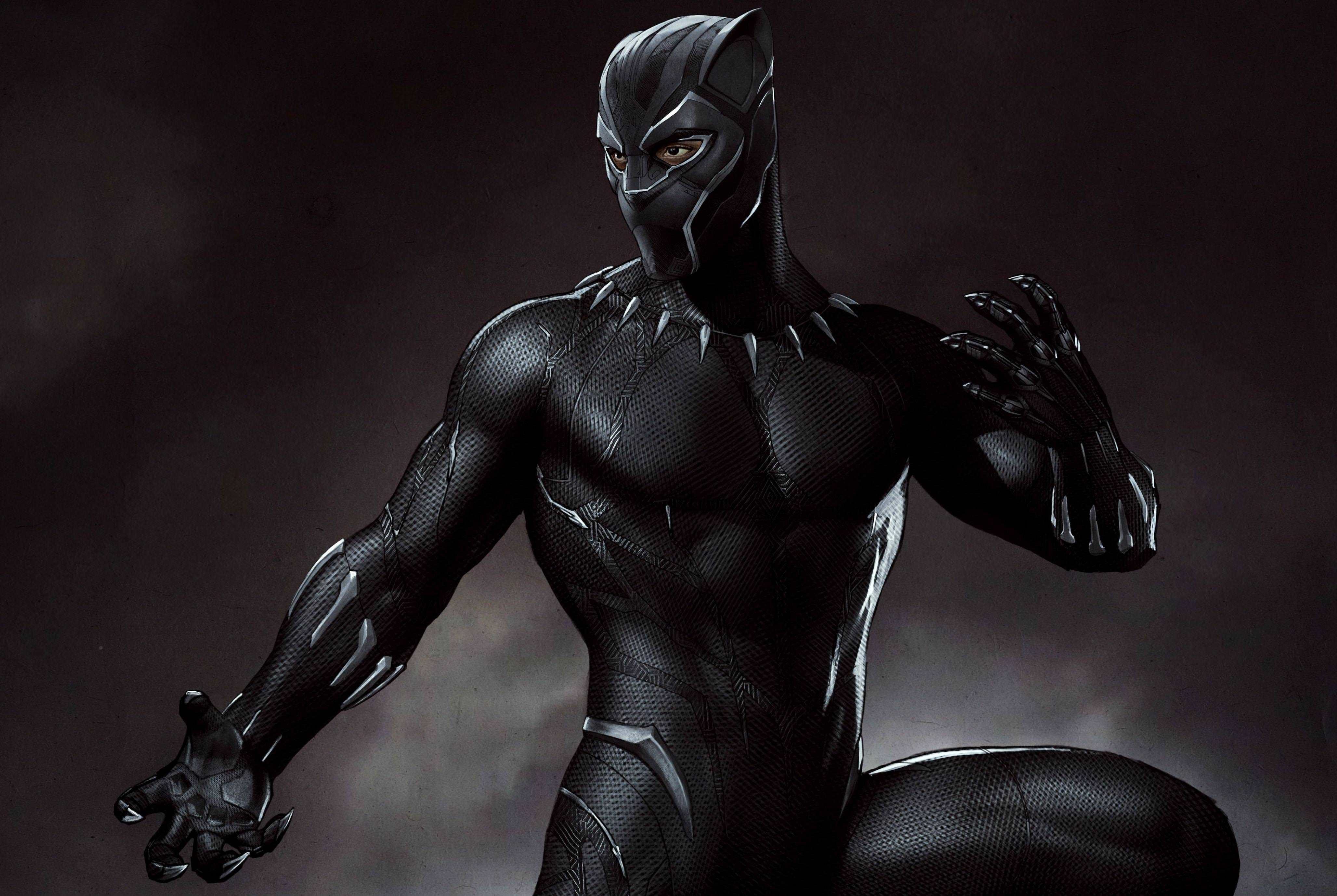 Avengers Character Black Panther Hd Wallpaper Collection Yl Computing