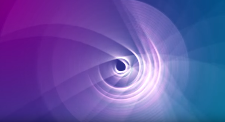 Blue Purple Background White Aperture Abstract Hd